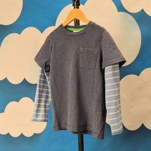 Mini Boden Double Sleeve Tee T-shirt Boys' 7 - 8